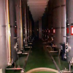 Battery of tanks model always full wine storage