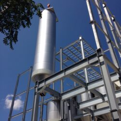 Positioning of the milling sector silo