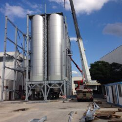 193 m3 silo made in a pasta factory