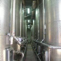 Fully insulated fruit juice storage tanks