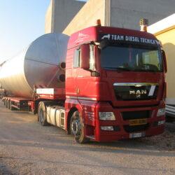 Exceptional transport tank diameter 3500