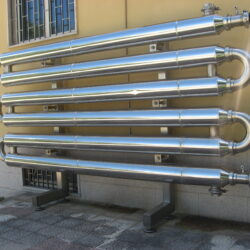 Tube-in-tube heat exchanger of various diameters and lengths